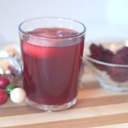 Cold glass of sorrel