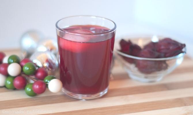Cold glass of sorrel