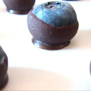 Blueberries with home made chocolate shell