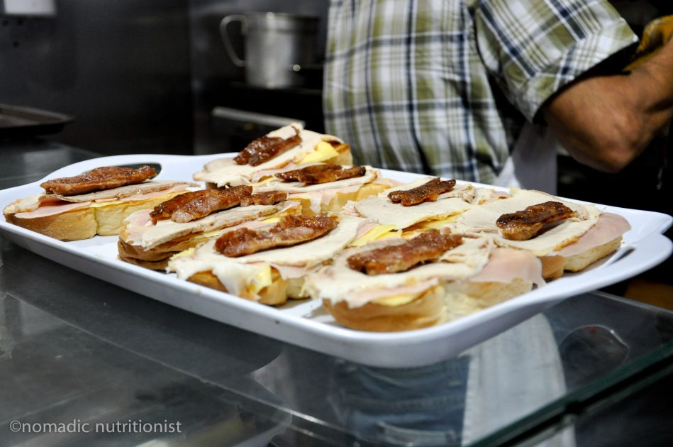 Making a Francesinha at Bufete Fase in Porto
