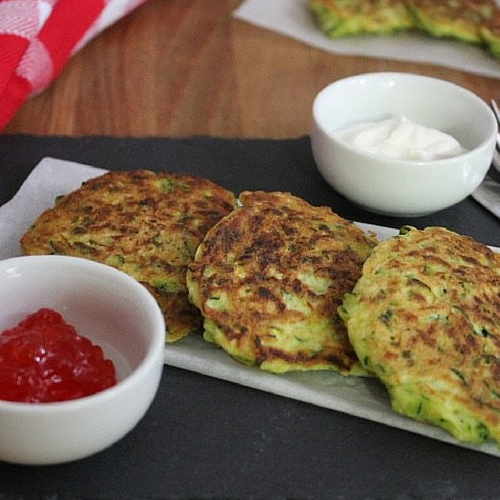 Zucchini Pancakes by Farm Girl City Chef