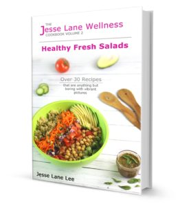 Healthy Fresh Salads Cookbook cover by Jesse Lane Wellness