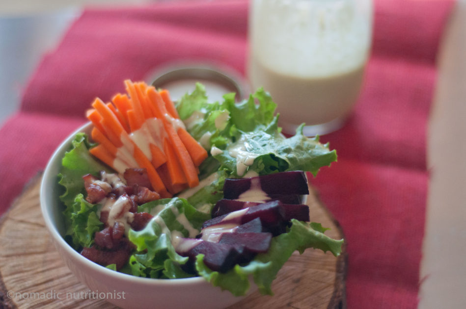 Salad with Lemon Tahini Dressing