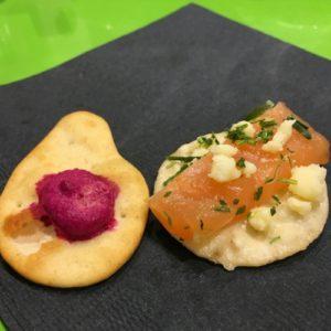 Beet Hummus and Salt-Cured Gravlax