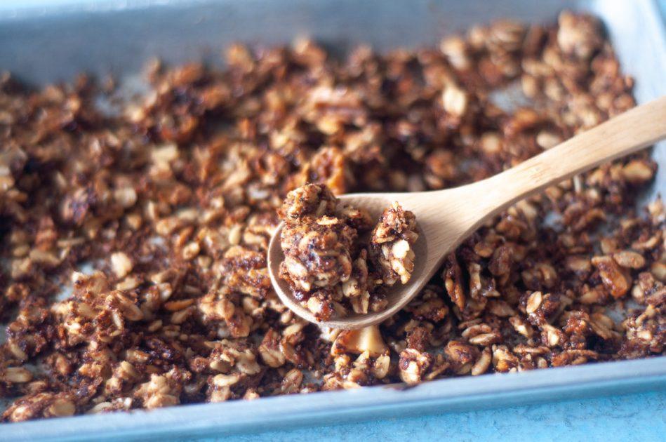 A pan of kaniwa granola