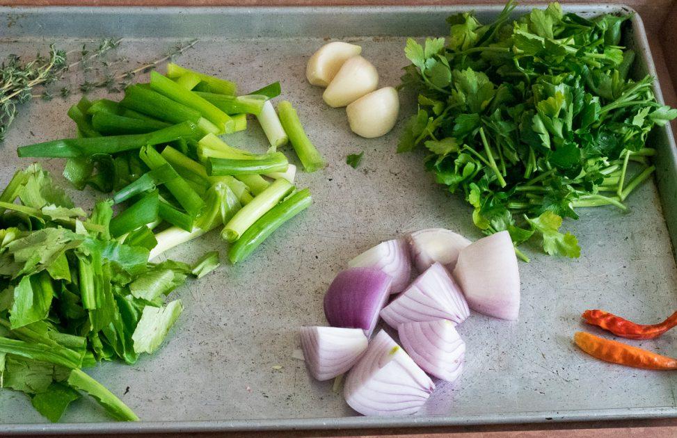 Ingredients for green seasoning